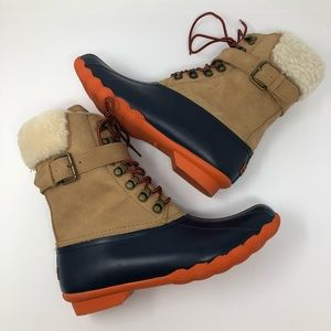 NEW SPERRY FUR LINED TALL DUCK BOOTS